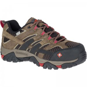 Women - Moab 2 Vent Waterproof Comp Toe Work Shoe - Shoes | Merrell