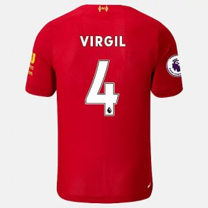 Liverpool FC Home SS Jersey Virgil EPL Patch - New Balance