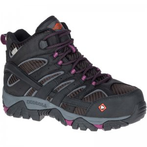 Women - Moab 2 Vent Mid Waterproof Comp Toe Work Boot - Boots | Merrell