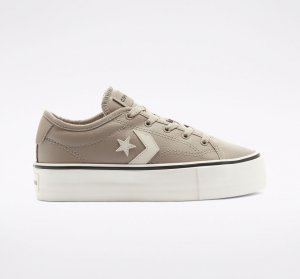 Faux Leather Converse Star Replay Platform