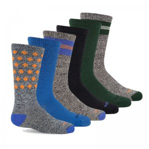 Big Kid - Hybrid Hiker Crew Sock 6-Pack - Socks | Merrell