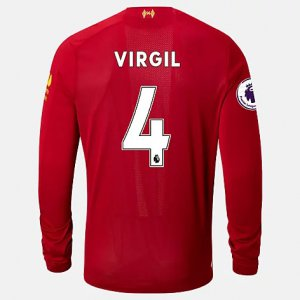 Liverpool FC Home LS Jersey Virgil EPL Patch - New Balance