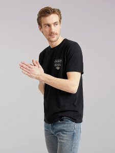 Men's Lee European Collection 1889 Graphic Tee in Black