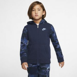 Nike Sportswear Club Fleece Little Kids' Full-Zip Hoodie.