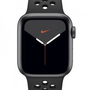 Apple Watch Nike Series 5 (GPS + Cellular) with Nike Sport Band 40mm Space Gray Aluminum Case.