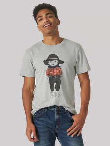 Men's Heritage Buddy Lee Graphic Tee in Grey