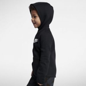 Nike Sportswear Tech Fleece Little Kids' Full-Zip Hoodie.