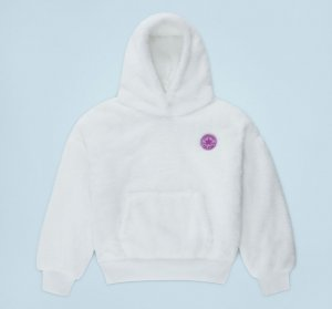 Sherpa Chuck Taylor Patch Hoodie