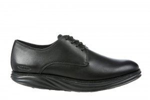MBT Men's Boston Black Nappa Oxfords
