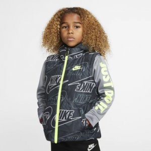 Nike Therma Little Kids' Full-Zip Puffer Hoodie.