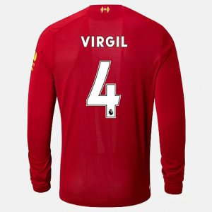 Liverpool FC Home LS Jersey Virgil No EPL Patch - New Balance