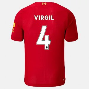 Liverpool FC Home SS Jersey Virgil No EPL Patch - New Balance